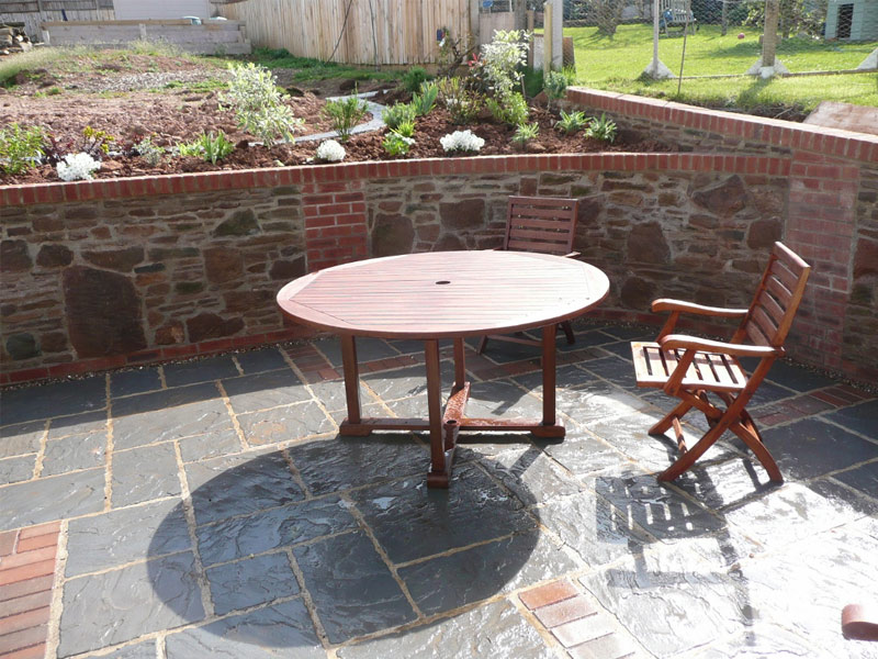 Rectory Welsh Slate with Block Paving