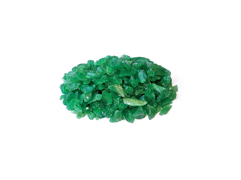 green crushed glass
