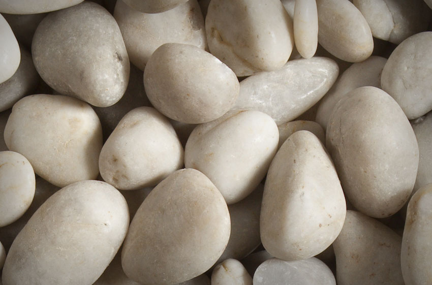 ivory polished pebble