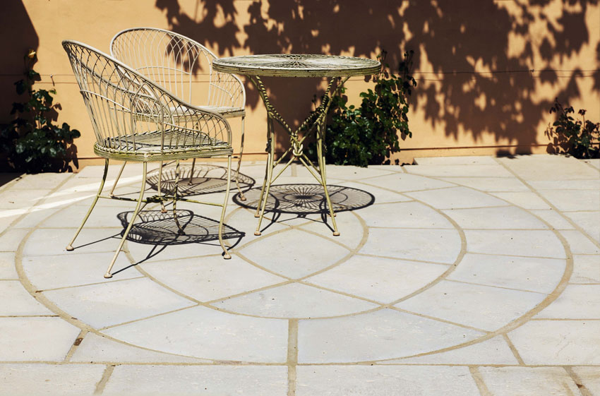 baroque oval chesia limestone
